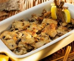 Champiñones crujientes al horno con frutos secos