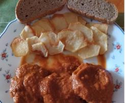 Filetes rusos con salsa