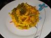 Fideua de verduras de fondo de nevera