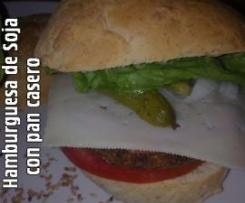 Hamburguesa de Soja y Zanahoria con Pan casero
