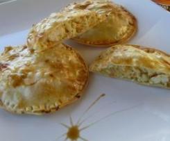 Tortitas crujientes pollo y verduras