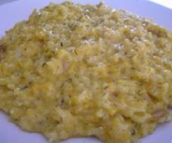 Rissoto de calabaza picante, tomillo y queso mascarpone