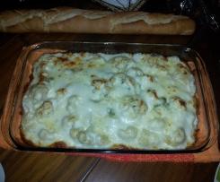 Coliflor con bechamel y queso glatinado