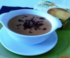 Crema de sopa castellana, con pan Candeal y virutas de jamón ibérico