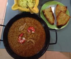 caldero santa polero pescado arroz  con all y oli