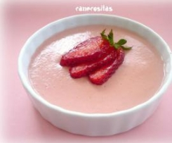 Natillas de fresas