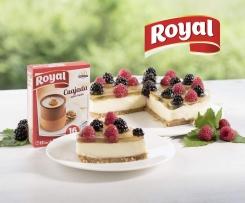 Tarta de queso Royal con frambuesas y moras