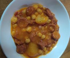 Cazuela de patata con garbanzos