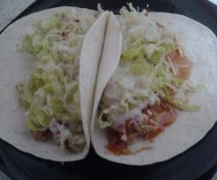 Tacos de frijoles con carne