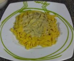 FUNGHI PORCINI E GORGONZOLA  (salsa para pasta fresca)