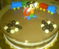 TARTA FRIA 3 CHOCOLATES
