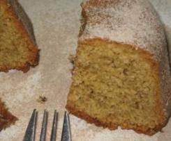 Cake de almendras y café