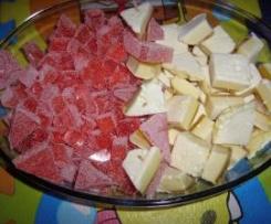 gomitas de fresa y esponjitas de limon