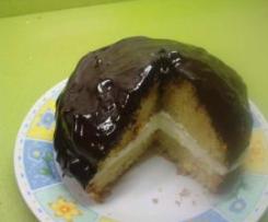 BIZCOCHO TU Y YO (relleno de nata y cubierto de chocolate)