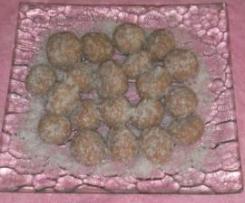 volitas de galletas y coco con ferrero rocher