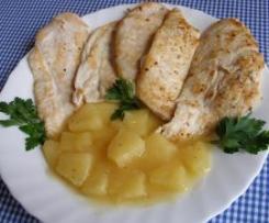 Filetes de pollo en salsa de piña con miel