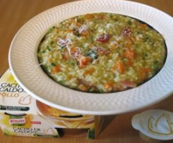 Arroz 2 verduras con Jamón Ibérico