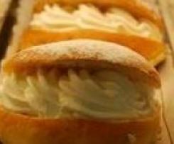 bambas de nata (como las de pasteleria)