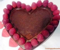 Bizcocho de chocolate y Frambuesas: St Valentin's Cake