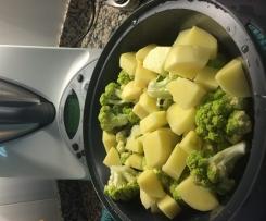 Brocoli y patata al vapor