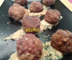 Albóndigas de seitán y trigo sarraceno con kombu (vegano)
