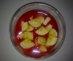 Platano con Salsa de Fresas