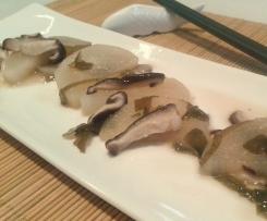 Daikon y shiitake con miso