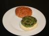 Hamburguesa de espinacas, calabacín y pavo