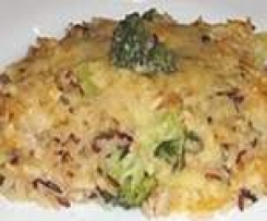 Arroz con brócoli y queso