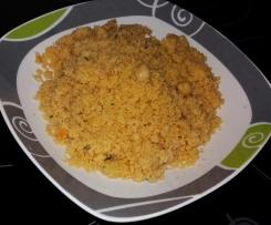 Cuscus con zanahoria y calabacín