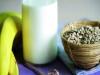 Batido de platano y limon con avena
