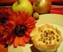 Tartaletas agridulces con corazón de manzana