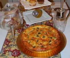 Quiche de bacon y brócoli