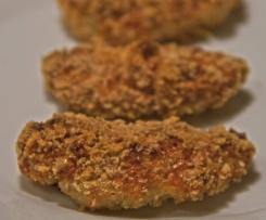 Nuggets de pollo con queso semiduro al horno