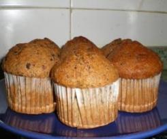 Muffins de chocolate y pasas al licor