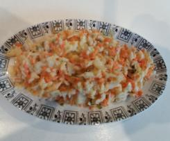 ENSALADA DE REPOLLO Y ZANAHORIA