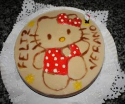 TARTA TRES CHOCOLATES HELLO KITTY