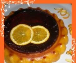 puding de calabaza y naranjas con piñones