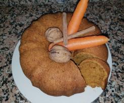Bizcocho zanahoria nueces y canela