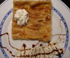 Tarta de hojaldre y manzana facil y rapida