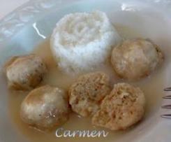 Clon de Albóndigas al vapor de pescado con salsa velouté