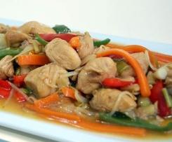 Chop Suey de pollo y verduras. Receta china