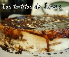 Tarta de queso con chocolate blanco y galletas