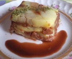 Milhojas de Patata con Setas Caramelizadas al Oporto