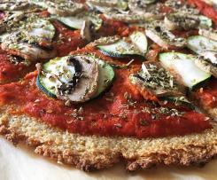 Pizza de quinoa con verduras y queso