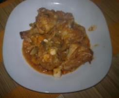Pollo al chilindrón a mi manera