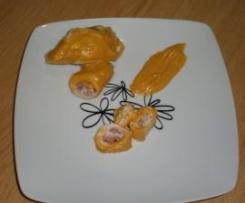 pechugas rellenas con pure de zanahoria y champiñones