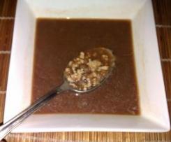 Sopa de miso con tofu y puerro