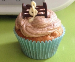Muffin de chocolate blanco con butter cream de chocolate