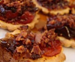 Tartaletas de pimientos confitados